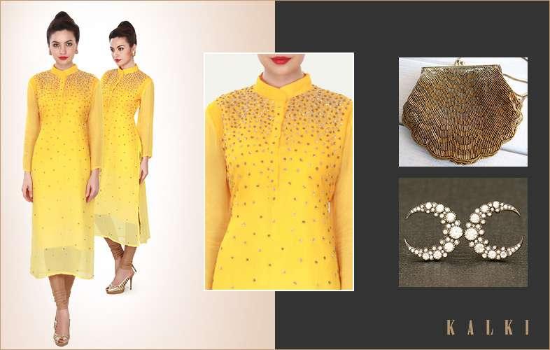 yellow-kurti-