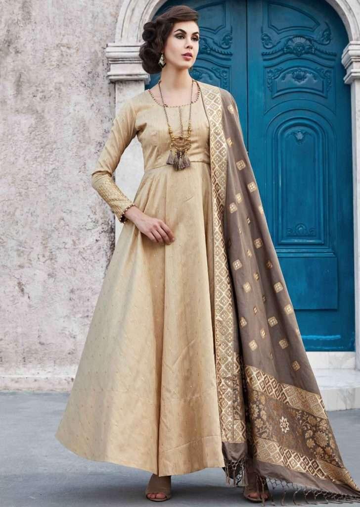 beige-anarkali-suit-in-raw-silk-in-weaved-butti-with-grey-dupatta-468757_4_