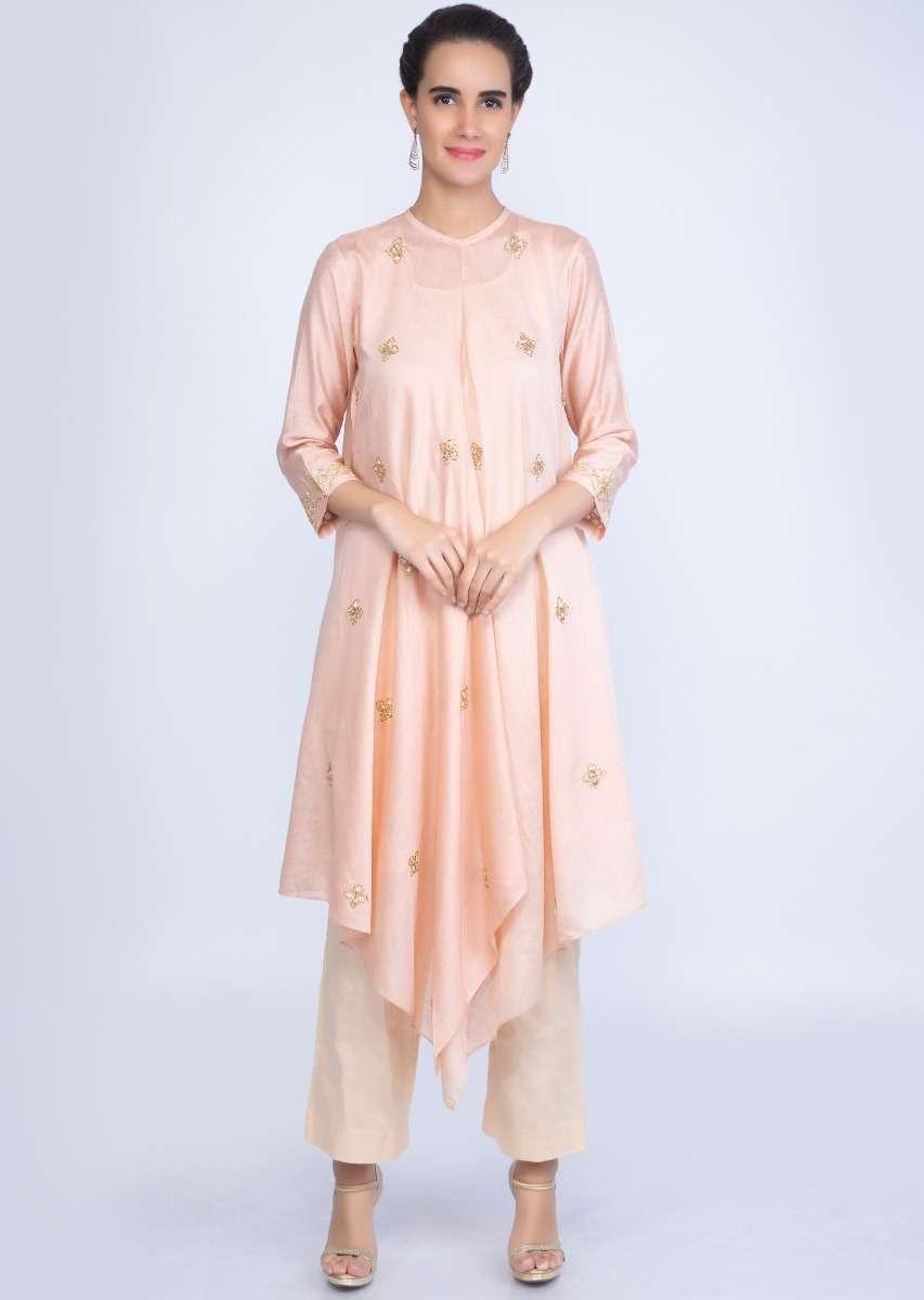 English Peach Fancy Tunic Dress
