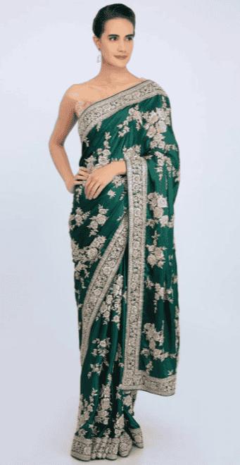 Green Indian Saree