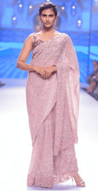 Eternally Blush Indian Saree