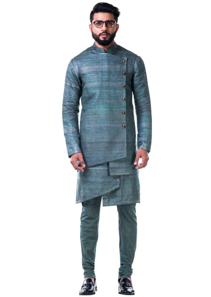 green_overlapped_ghicha_kurta_and_jacket_set_only_on_kalki_-_427493_4__1