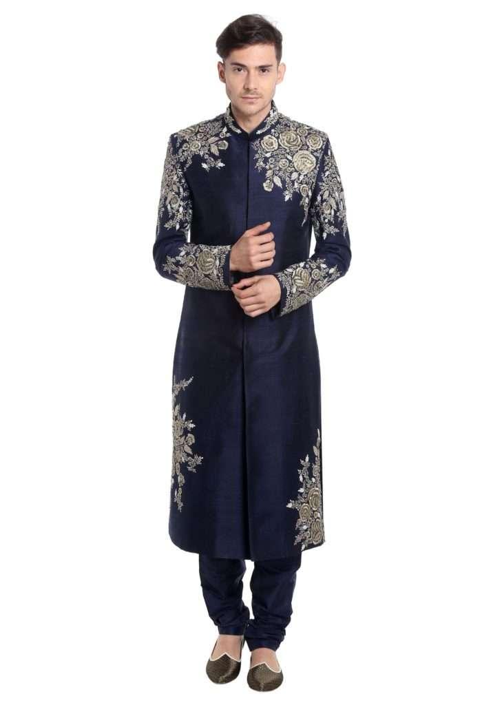 navy-blue-raw-silk-sherwani-featuring-zari-embellishments-only-on-kalki-384322_2_