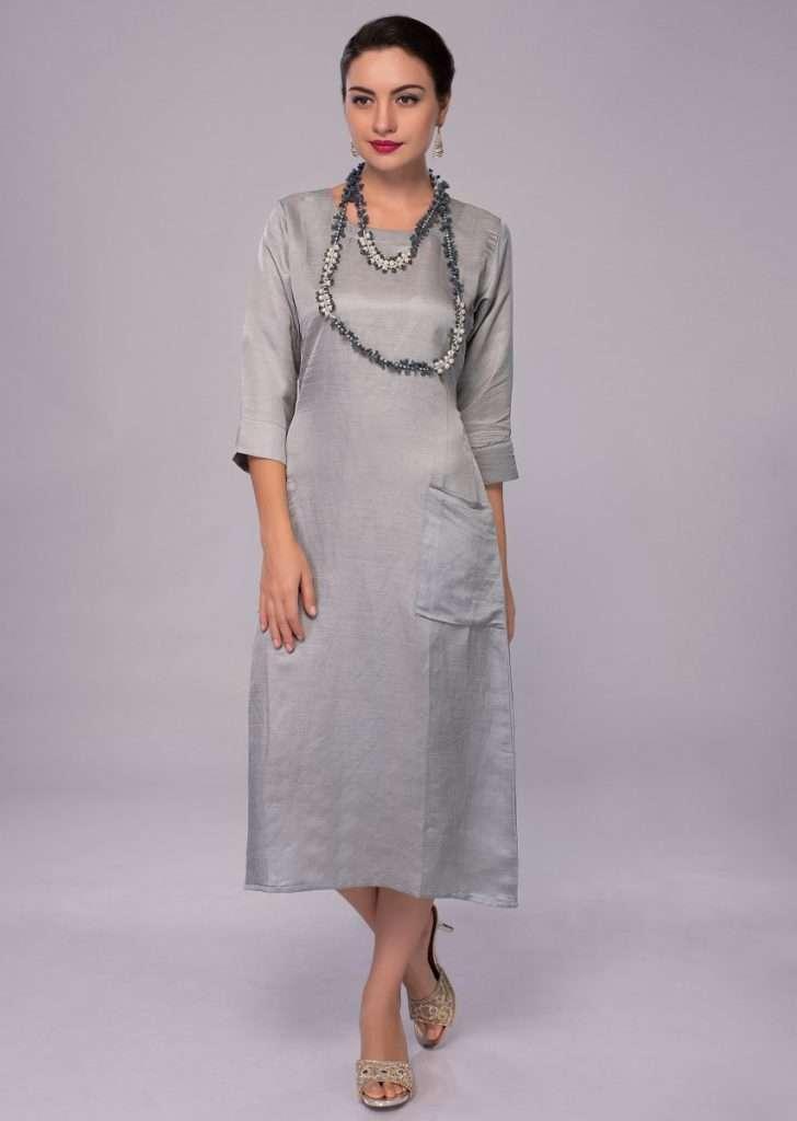 silver-grey-cotton-silk-kurti-with-front-pocket-only-on-kalki-459623_2_