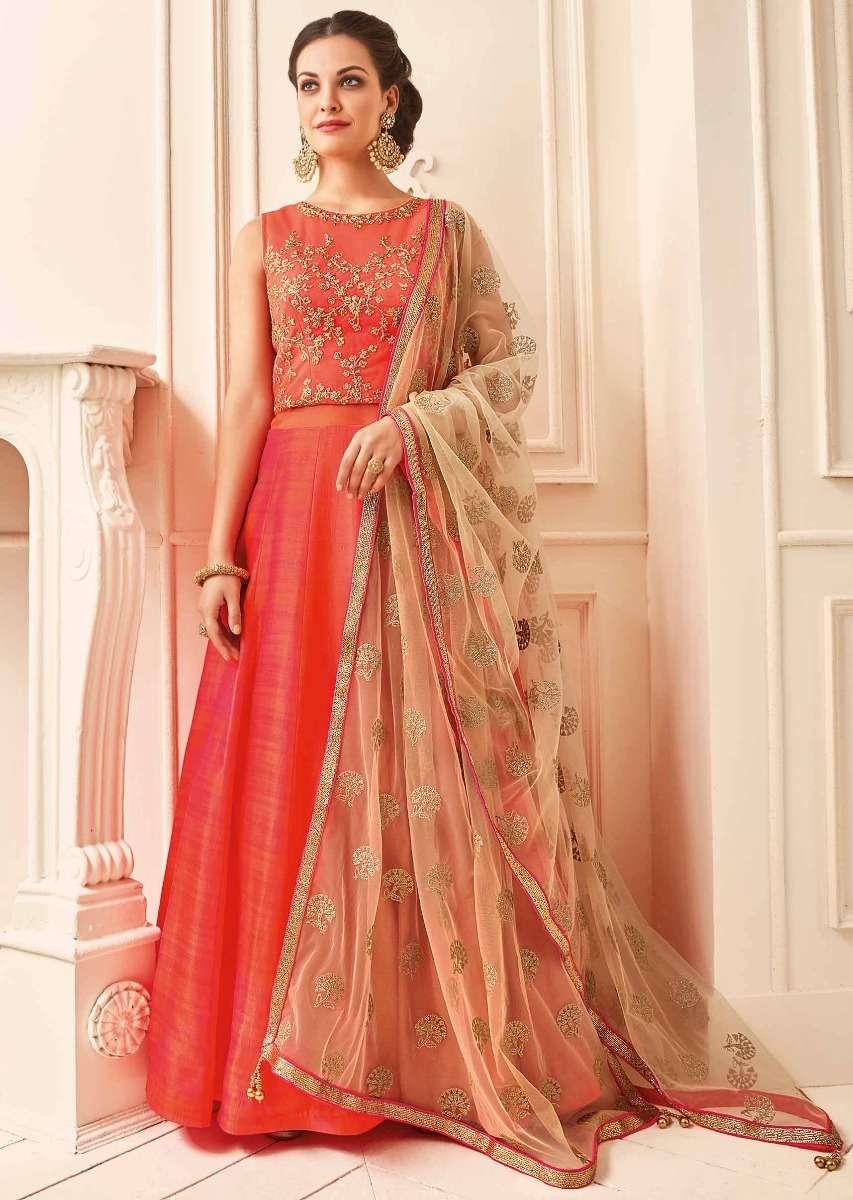 orange_anarkali_suit_in_raw_silk_with_zari_and_kundan_embroidered_bodice_-_427125_4__1