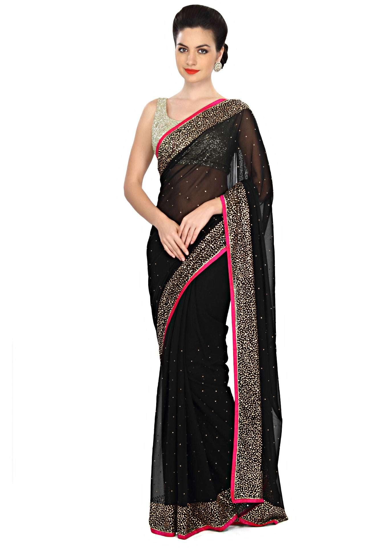 black-saree-embellished-in-kundan-embroidery-only-on-kalki-324561_1__1