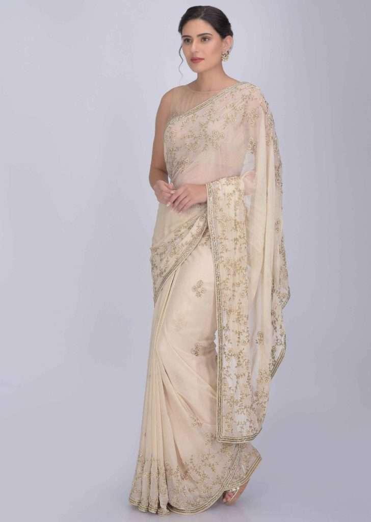 cream-saree-in-shimmer-chiffon-with-matching-blouse-piece-online-kalki-fashion-420405_5_