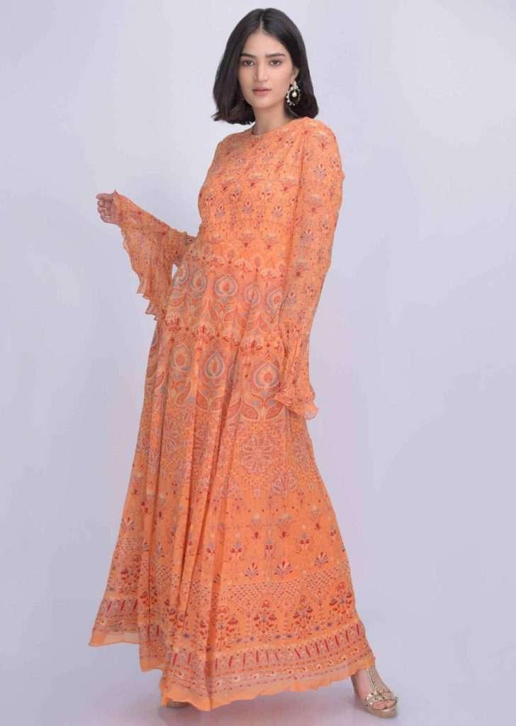 melon-orange-chiffon-anarkali-suit-with-tribal-print-only-on-kalki-500389_5_