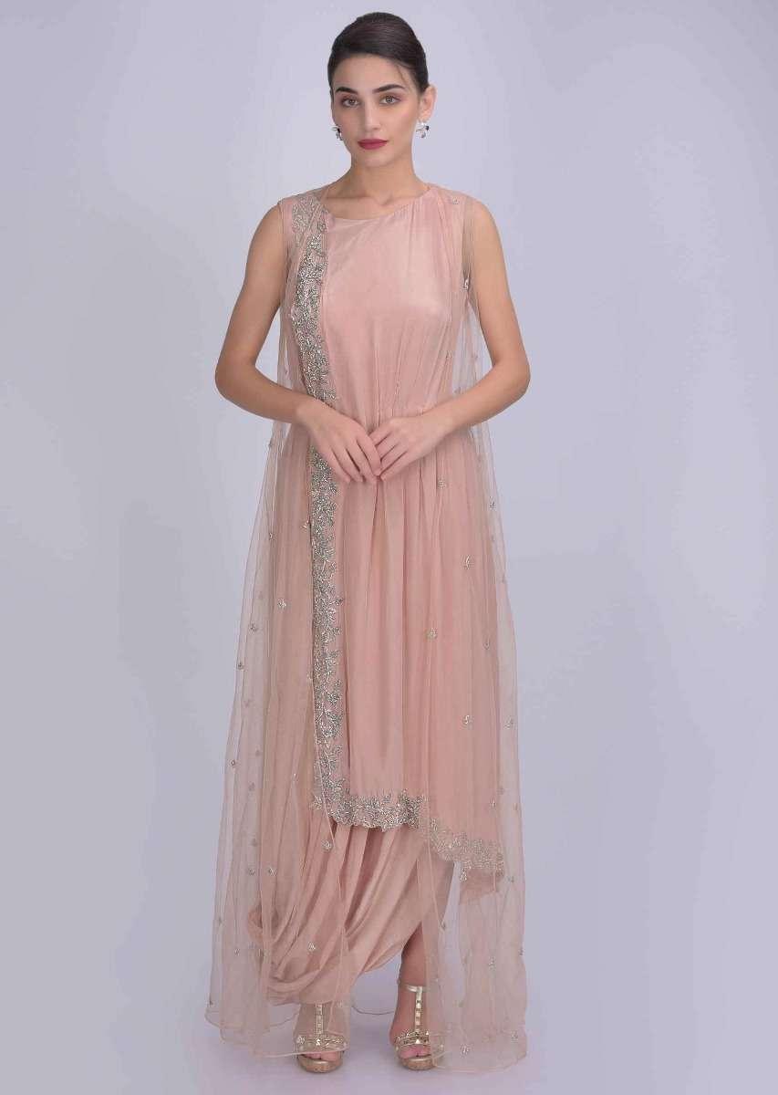 peach-crepe-dress-with-fancy-net-jacket-only-on-kalki-501378_3_