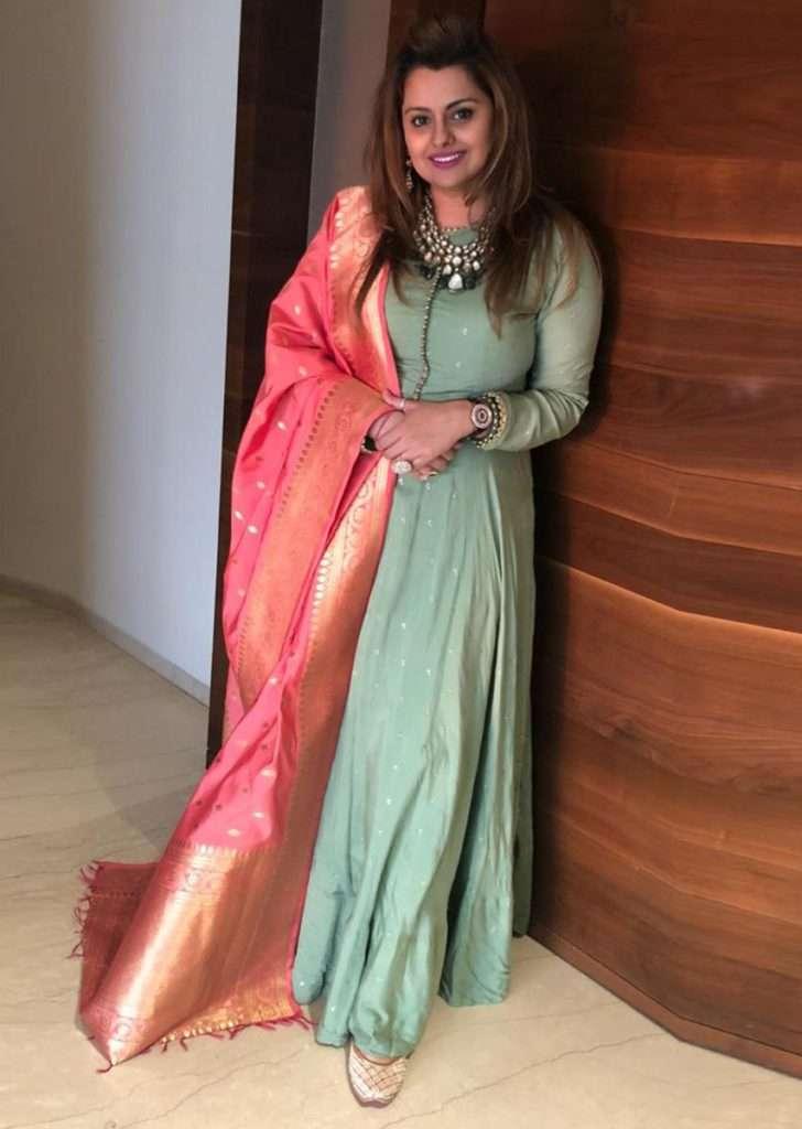 Deepshika Deshmukh In Kalki Chanderi Silk Anarkali Dress