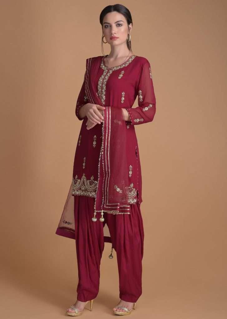 Claret Combo - Buy Salwar Suit Online