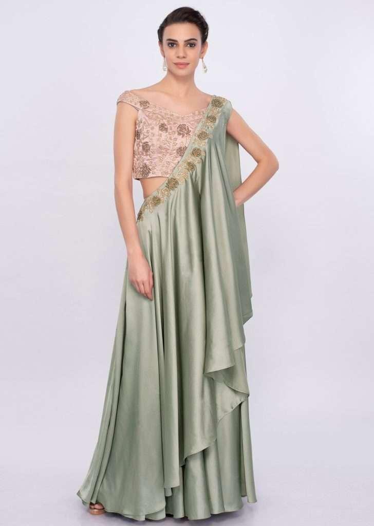 Fancy sage green skirt