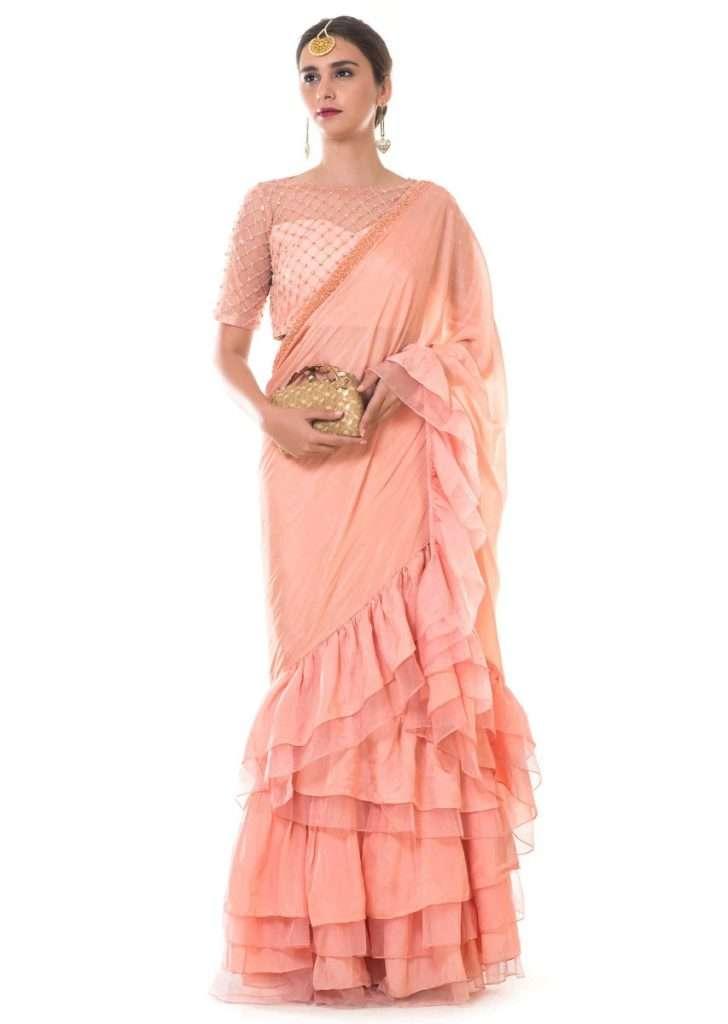 Frolic frills lehenga saree