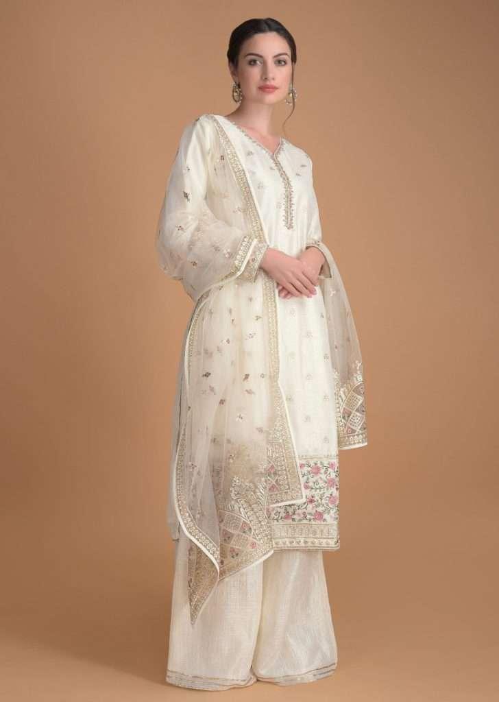 White over anything - Buy Salwar Kameez Online