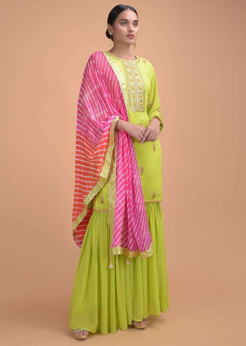 lime-green-sharara-suit-in-georgette-with-gotta-patch-work-and-shaded-lehariya-dupatta-online-kalki-fashion-j002g605y_6_