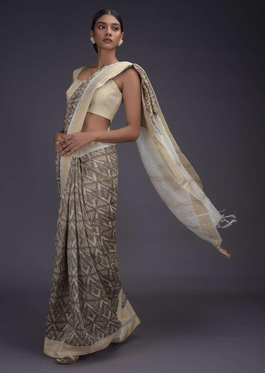tussar silk saree for makar sankranti