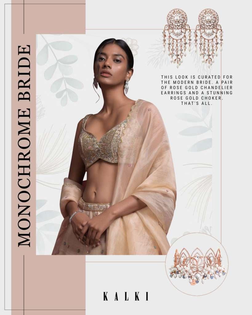 Monochrome Bridal Look